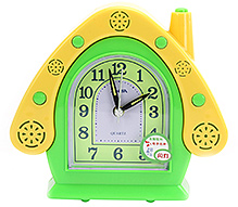 Fab N Funky House Shape Alarm Clock- Green and Yellow