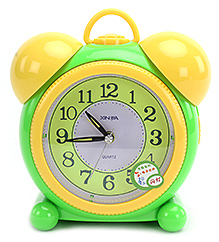 Fab N Funky Baby Alarm Clock- Green and Yellow