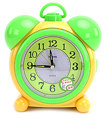 Fab N Funky Baby Alarm Clock- Yellow and Green