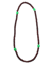 Fab N Funky Maroon And Green Colour Necklace - Free Size
