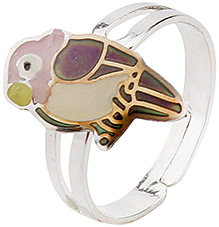 Fab N Funky Finger Ring - Parrot Design
