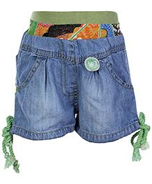 Little Kangaroos Shorts Green - Printed Waist