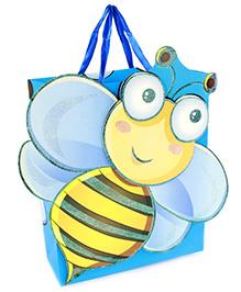 Fab N Funky Honey Bee Print Gift Bag- Blue