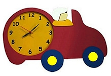 Kidoz Racer Car Shaped Clock