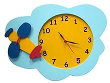 Kidoz Airplane Motif Clock