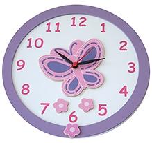 Kidoz Butterfly Motif Clock