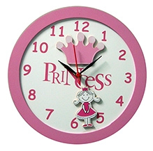 Kidoz Princess And Crown Motif Clock