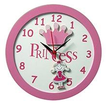 Kidoz Princess And Crown Motif Clock