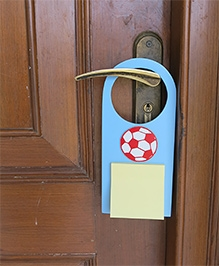 Kidoz Football Print Door Hanger