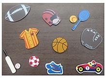 Kidoz Wooden Sports Motifs