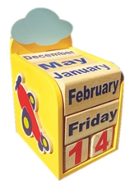 Kidoz Airplane Motif Calendar