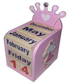 Kidoz Princess Motif Calendar