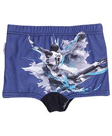 Bosky Swimwear Man Print Swimming Trunks - Navy Blue