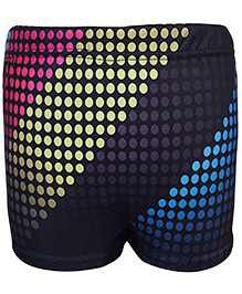 Bosky Swimwear Dotted Print Swimming Trunks - Black and Yellow