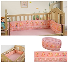 Swayam Digitally Printed Reversible Cot Bumper Large Standard Size - 377895