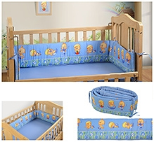 Swayam Digitally Printed Reversible Cot Bumper Large Standard Size