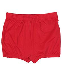 Bosky Plain Red Swimming Trunks