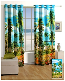 Swayam Digitally Printed Premium Cosmo Fashion Window Curtain - Single Piece - 377971