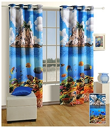 Swayam Digitally Printed Premium Cosmo Fashion Window Curtain - Single Piece - 48 X 60 Inches