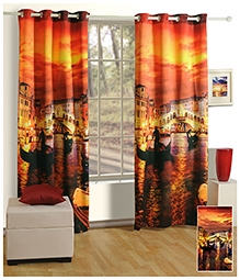 Swayam Digitally Printed Premium Cosmo Fashion Door Curtain - Single Piece - 377976