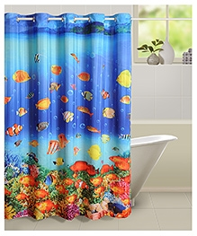 Swayam Digitally Printed Shower Curtain - 1 Piece - 72 X 84 Inches