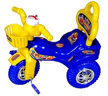 Cosmo Riding Fun Tricycle - Blue and Yellow