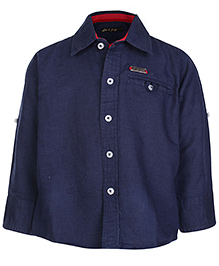 Gini & Jony Full Sleeves Shirt - Navy Blue