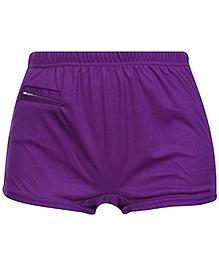 Bosky Plain Swimming Trunks- Purple