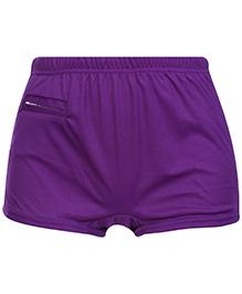 Bosky Plain Purple Swimming Trunks