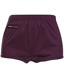 Bosky Plain Light Purple Swimming Trunks