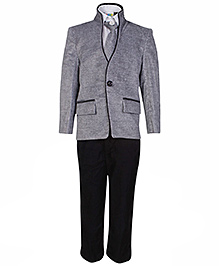 SAPS 4 Piece Full Sleeves Party Suit  - Grey