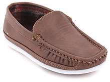 Kittens Brown Loafers Genuine Leather Shoes