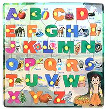 Prasima Toys Alphabet Chhota Bheem Puzzle - Square