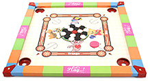 Prasima Toys Carrom Board- Smiley Theme