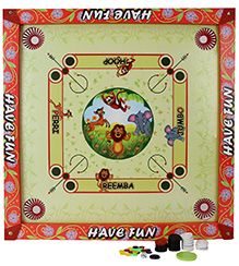 Prasima Toys 2 in 1 Carrom Board With Ludo 53 x 53 x 2.5 cm, Bring home this Carrom Board with Ludo for your kid