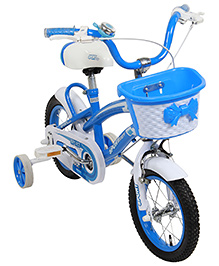 Fab N Funky Bicycle Blue And White