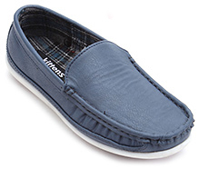 Kittens Blue Loafers Genuine Leather Shoes