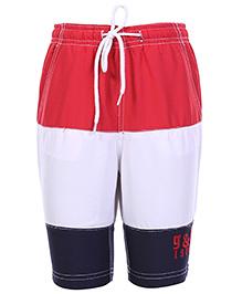 Gini & Jony Tri Color Bermuda Shorts With Drawstring