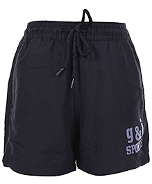 Gini & Jony Black Shorts With Drawstring