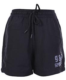 Gini & Jony Black Shorts With Drawstring