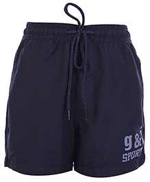 Gini & Jony Navy Blue Shorts With Drawstring