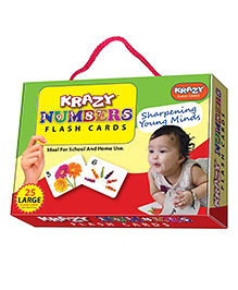 Krazy Numbers Flash Cards - My Baby Brain Tool