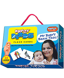 Krazy Birds Flash Cards My Baby Brain Tool - 26 Large Flash Cards