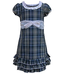 Herberto Short Sleeves Party Frock - Checkered Design