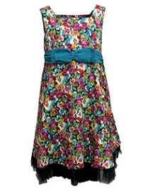 Herberto Sleeveless Party Dress - Multicolor Flowers