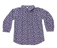 Nino Bambino Full Sleeves Shirt Navy Blue - Flowers Print