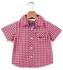 Beebay Half Sleeves Shirt Red Checks