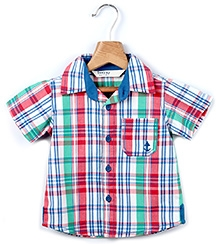 Beebay Half Sleeves Shirt With Multi Color Checks