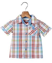 Beebay Half Sleeves Turn Up Shirts Multicolor Check Print