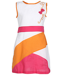 Via Italia Sleeveless Multicolored Frock